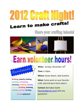 Craft Night 2012
