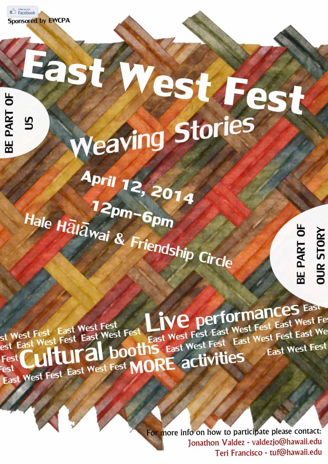 East-West Fest coming up April 12th!